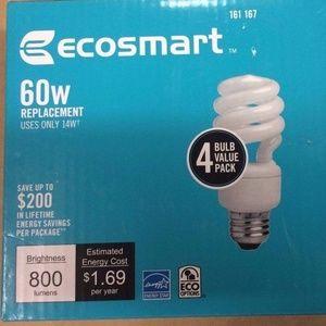 EcoSmart 60W Equivalent 5000K Spiral CFL Lighting
